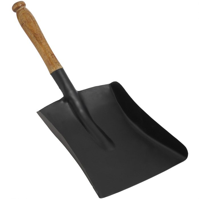 Black Shovel with Wooden Handle - Cosy Home Interiors