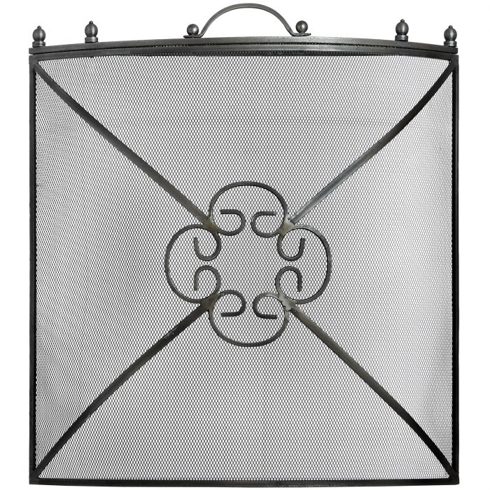 Mesh Fireguard in Antique Pewter Effect Finish - Cosy Home Interiors