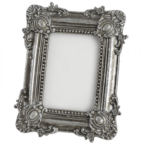 Antique Silver Coloured Rectangular Photo Frame - Cosy Home Interiors