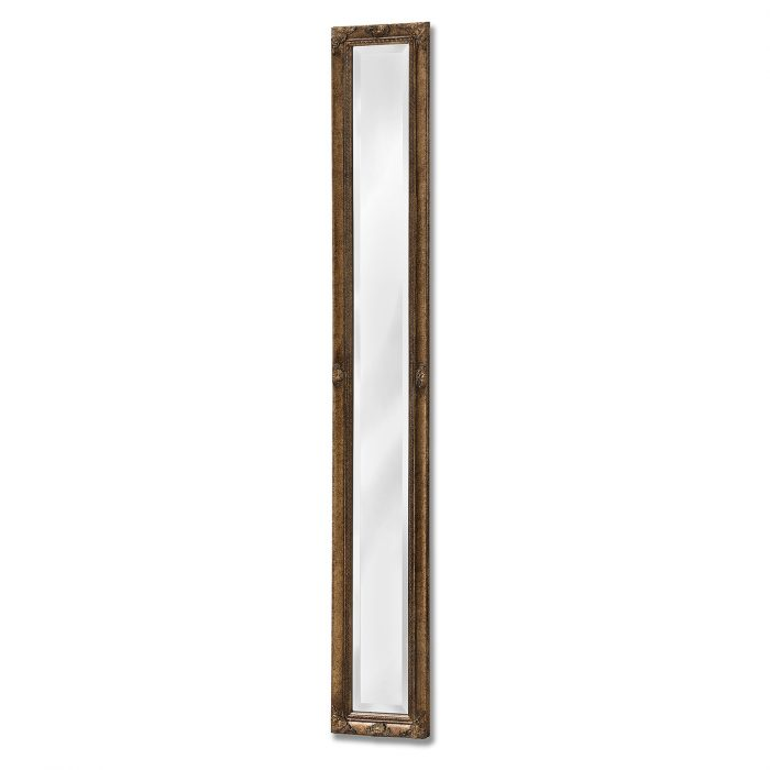 Antique Gold Narrow Wall Mirror - Cosy Home Interiors