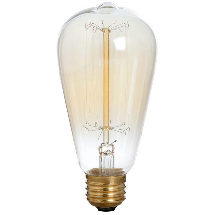 Edison Filament Teardrop Squirrel Cage Bulb - Cosy Home Interiors