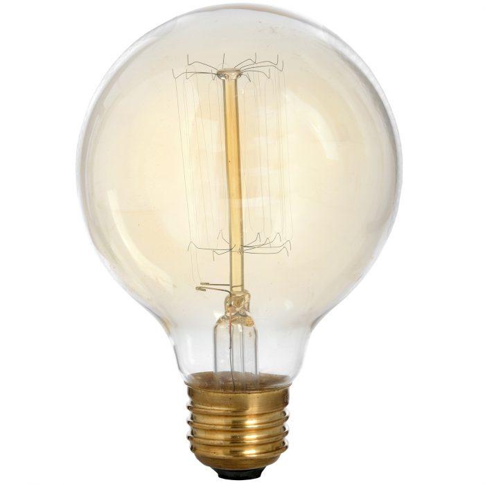 Edison Filament Round Globe Bulb - Cosy Home Interiors