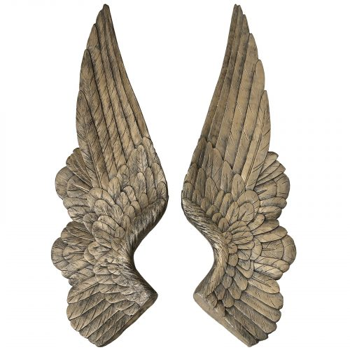 Set of 2 Gold Angel Wings Decoration - Cosy Home Interiors