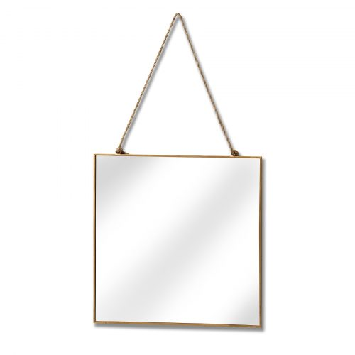 Gold Edged Square Hanging Wall Mirror - Cosy Home Interiors
