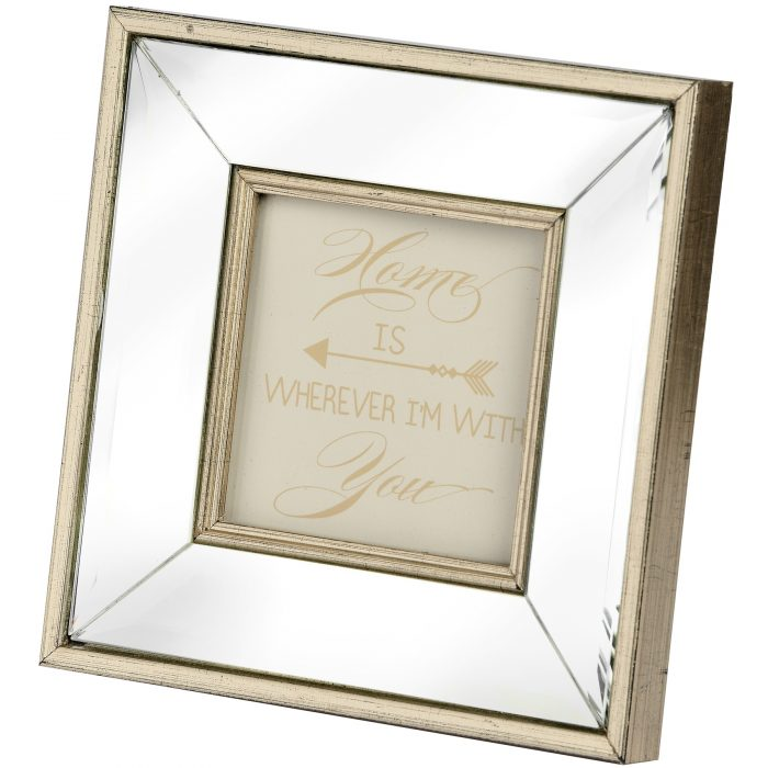 Square Mirror Bordered Photo Frame 4x4 - Cosy Home Interiors