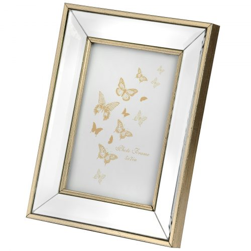 Small Rectangle Mirror Bordered Photo Frame 4x6 - Cosy Home Interiors