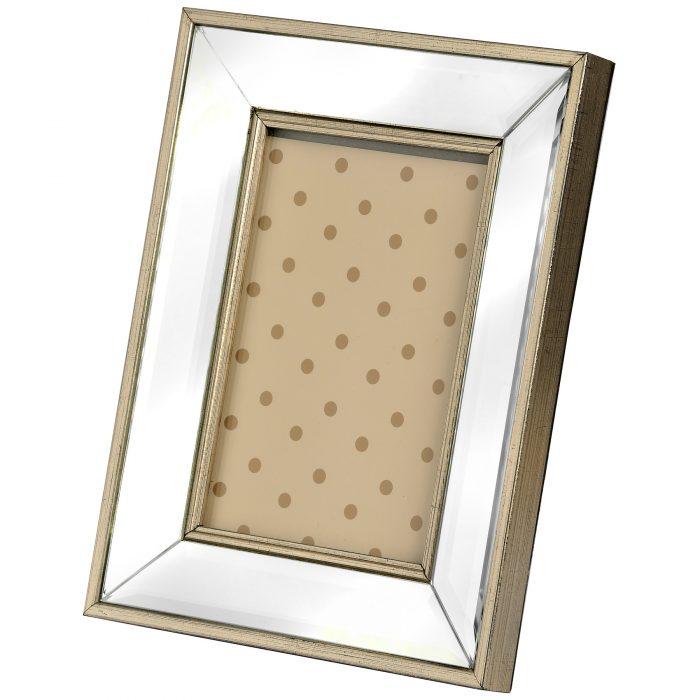 Rectangle Mirror Bordered Photo Frame 5x7 - Cosy Home Interiors