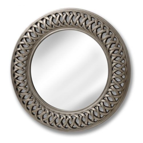 Entwined Lattice Silver Mirror - Cosy Home Interiors