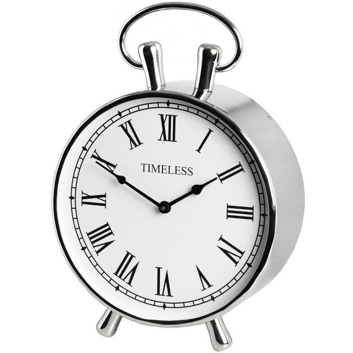 Chrome Mantel Clock - Cosy Home Interiors
