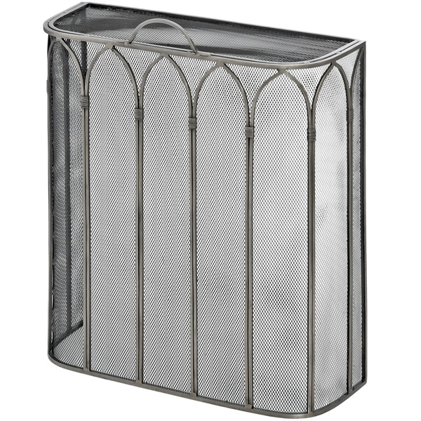 Gothic Antique Pewter Firescreen - Cosy Home Interiors