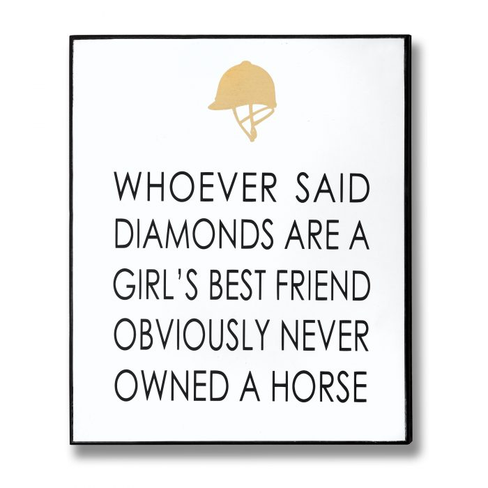 Owned A Horse Gold Foil Plaque - Cosy Home Interiors