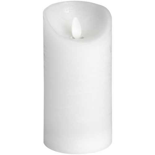 Luxe Collection 3 x 6 White Flickering Flame LED Wax Candle - Cosy Home Interiors