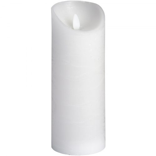 Luxe Collection 3 x 8 White Flickering Flame LED Wax Candle - Cosy Home Interiors