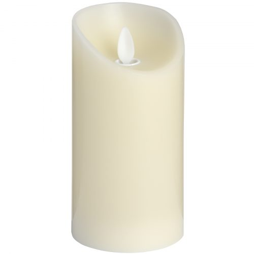 Luxe Collection 3 x 6 Cream Flickering Flame LED Wax Candle - Cosy Home Interiors