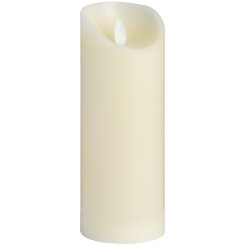 Luxe Collection 3 x 8 Cream Flickering Flame LED Wax Candle - Cosy Home Interiors