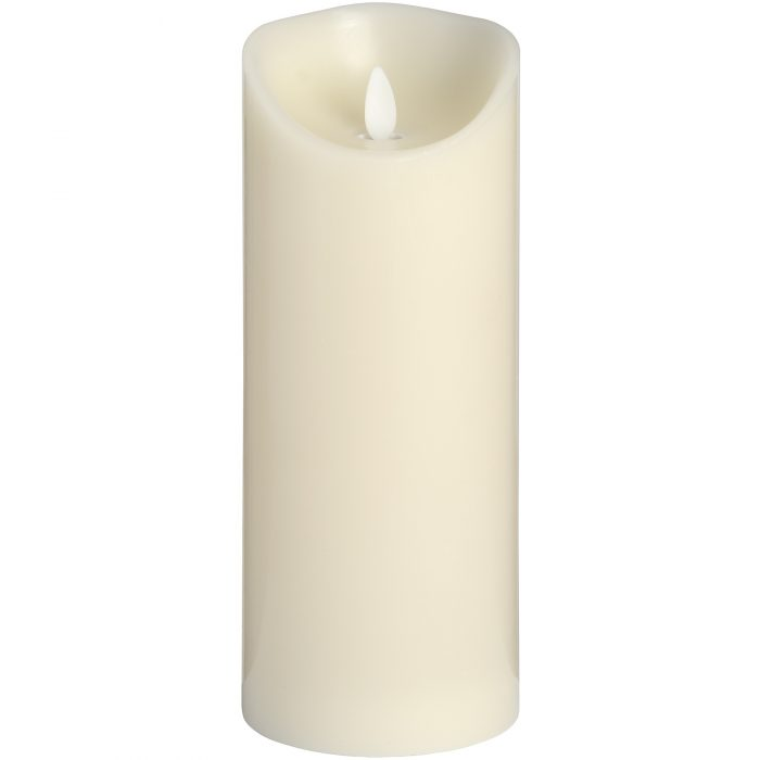 Luxe Collection 3.5 x9 Cream Flickering Flame LED Wax Candle - Cosy Home Interiors