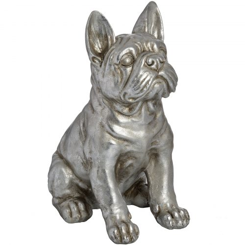 Antique Silver French Bull Dog - Cosy Home Interiors