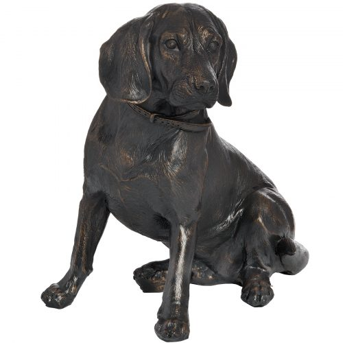 Sitting Spaniel In Antique Bronze - Cosy Home Interiors