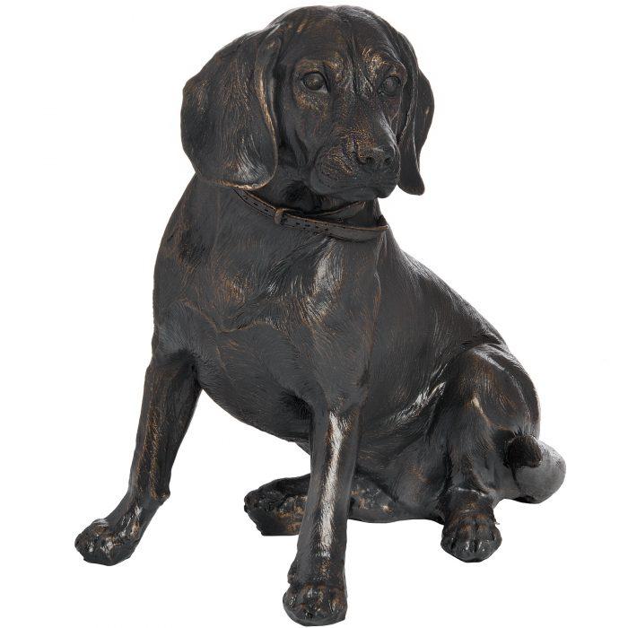 Sitting Spaniel In Antique Bronze - Cosy Home Interiors