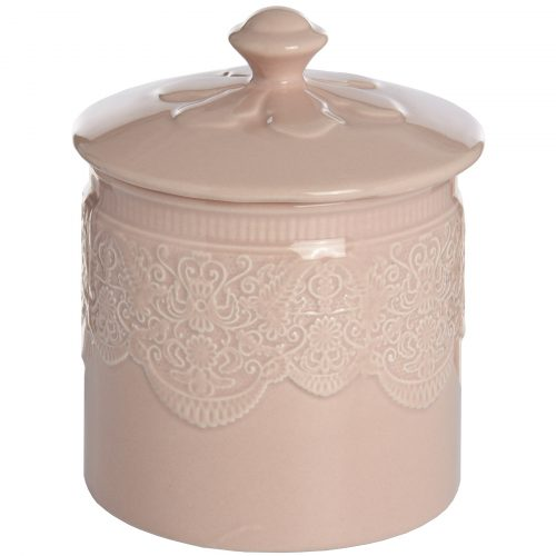 Peach Porcelain Storage Trinket Jar - Cosy Home Interiors