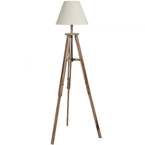 Large Wooden Tripod Lamp - Cosy Home Interiors