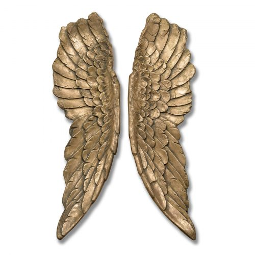 Gold Large Angel Wings - Cosy Home Interiors