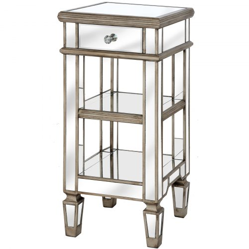 The Belfry Collection One Drawer Mirrored Cocktail Table - Cosy Home Interiors
