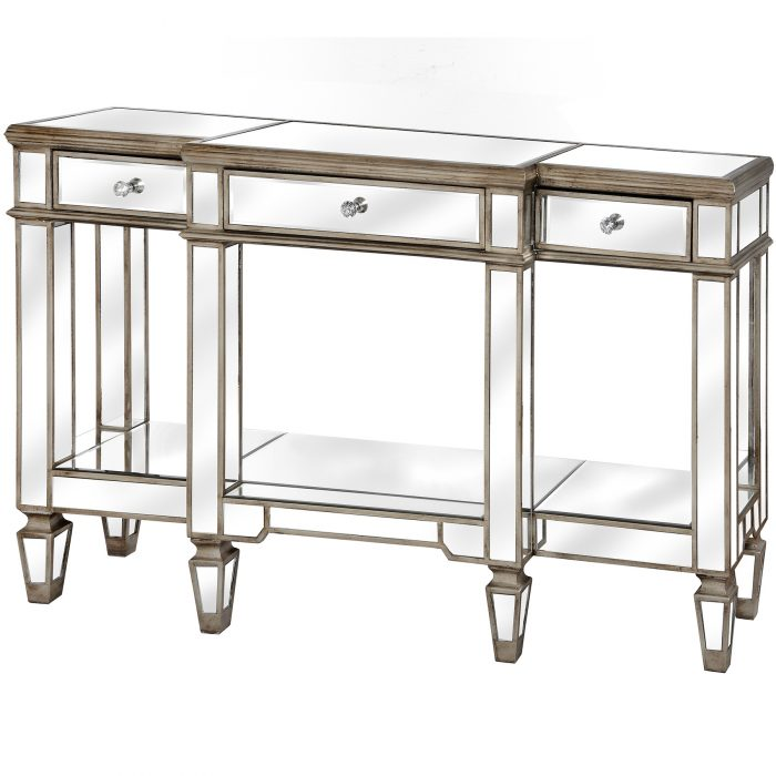 The Belfry Collection Mirrored Display Console - Cosy Home Interiors