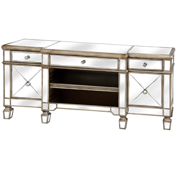 The Belfry Collection Mirrored Media Unit - Cosy Home Interiors