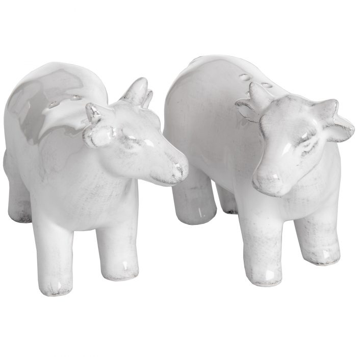 Set of Two Salt and Pepper Cows - Cosy Home Interiors
