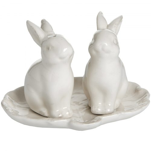 Set of 2 Salt and Pepper Rabbits - Cosy Home Interiors