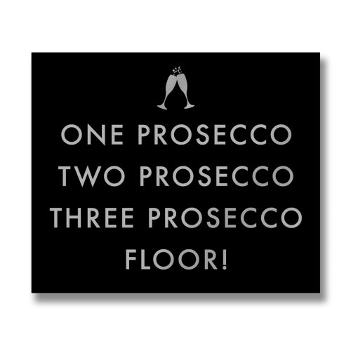 One Prosecco Metallic Detail Plaque - Cosy Home Interiors