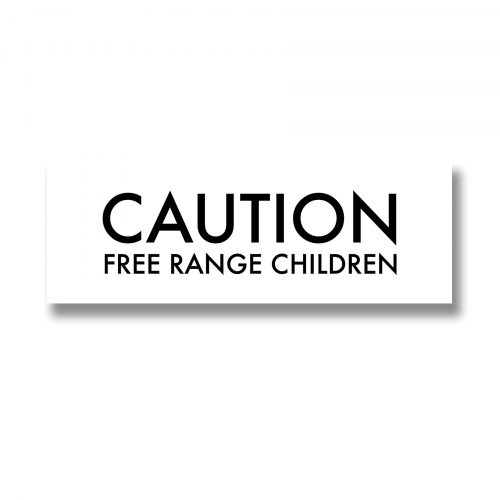 Caution Free Range Children Metallic Detail Plaque - Cosy Home Interiors