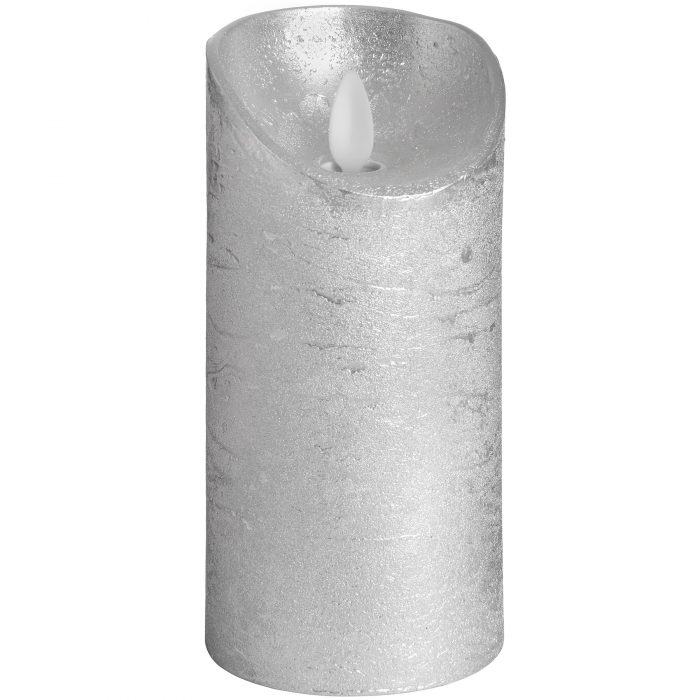 Luxe Collection 3 x 6 Silver Flickering Flame LED Wax Candle - Cosy Home Interiors
