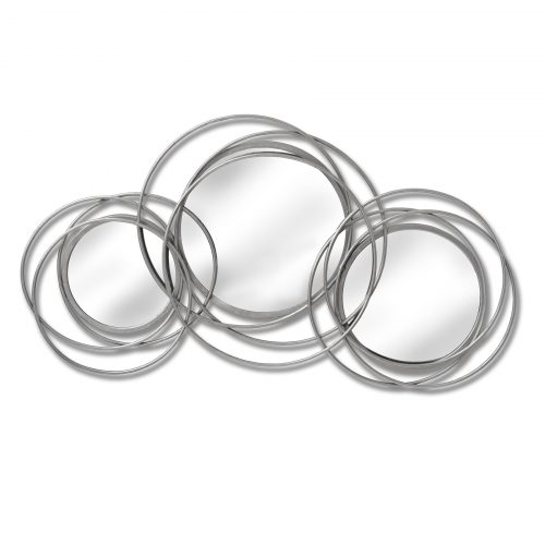 Silver Trio Multi Circled Wall Art Mirror - Cosy Home Interiors