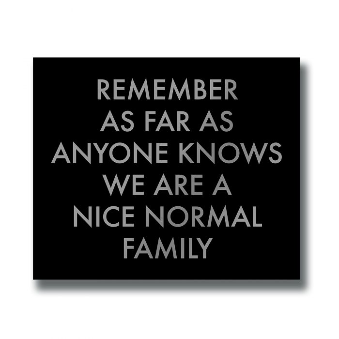 A Nice Normal Family Silver Foil Plaque - Cosy Home Interiors