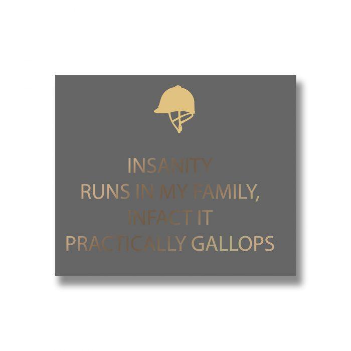 Insanity Silver Foil Plaque - Cosy Home Interiors