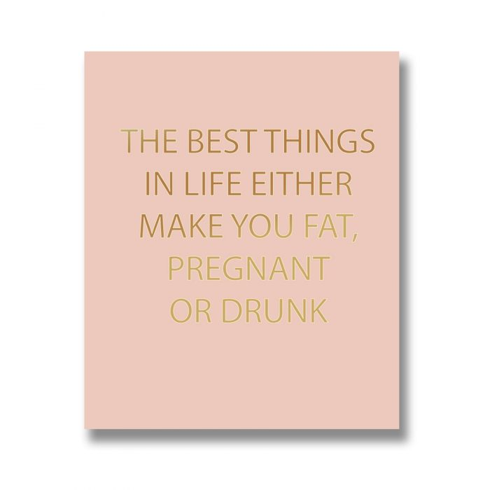 The Best Things In Life Gold Foil Plaque - Cosy Home Interiors