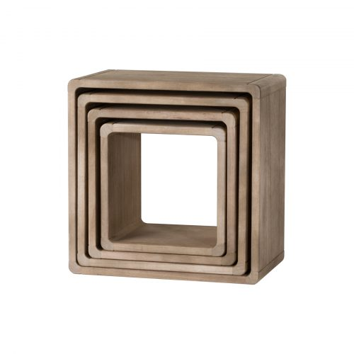 Set Of 4 Wooden Hanging Display Cubes - Cosy Home Interiors