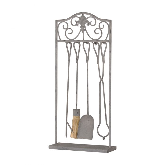Antique French Inspired Fire Companion Set With Scroll Detailing - Cosy Home Interiors