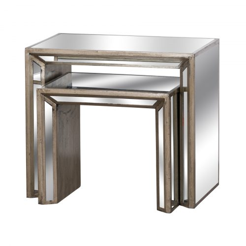 Augustus Mirrored Nest Of Tables - Cosy Home Interiors