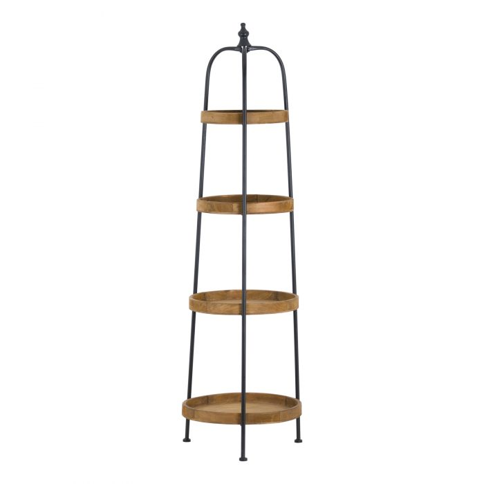 Loft Collection Round Display Shelf - Cosy Home Interiors