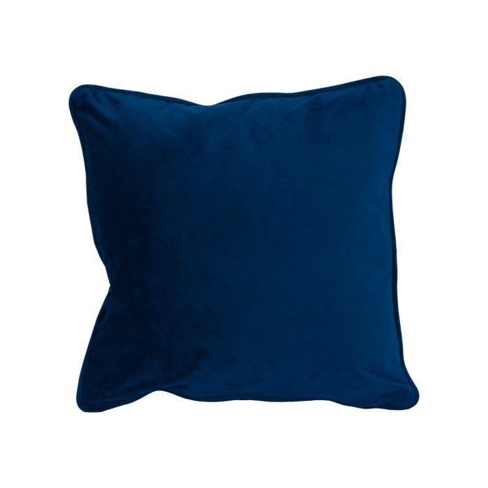 Navy Velvet Cushion 40x40cm - Cosy Home Interiors