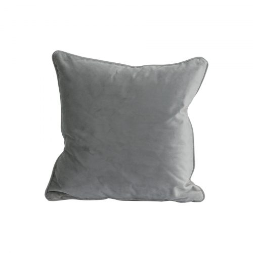 Grey Velvet Cushion 40x40cm - Cosy Home Interiors