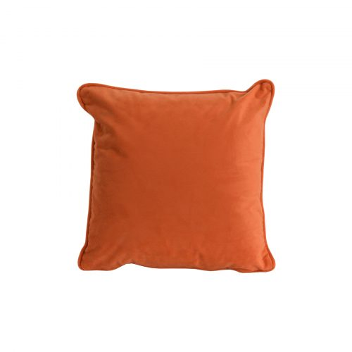 Orange Velvet Cushion 40x40cm - Cosy Home Interiors