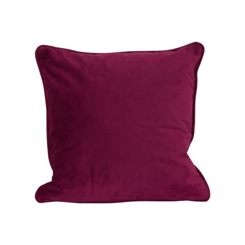 Aubergine Velvet Cushion 40x40cm - Cosy Home Interiors