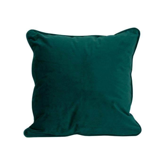 Emerald Green Velvet Cushion 40x40cm - Cosy Home Interiors
