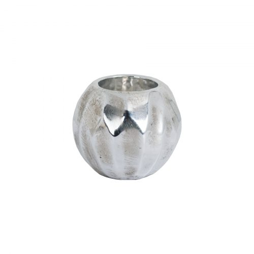 Small Spherical Detailed Metallic Ceramic Tealight Holder - Cosy Home Interiors