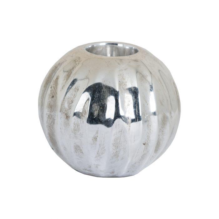 Medium Spherical Detailed Metallic Ceramic Tealight Holder - Cosy Home Interiors