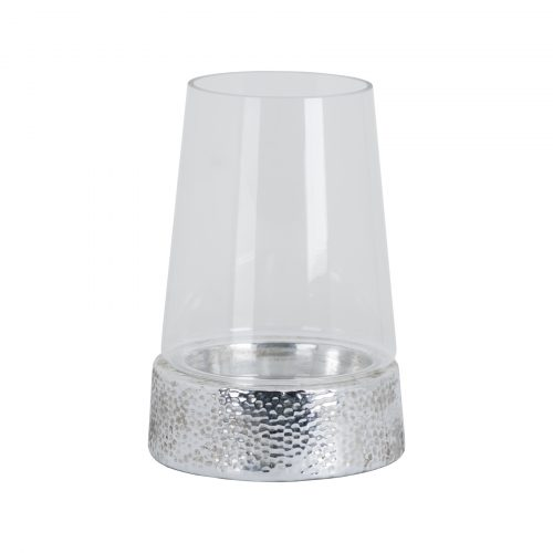 Metallic Ceramic Cylindrical Hurricane Lantern - Cosy Home Interiors
